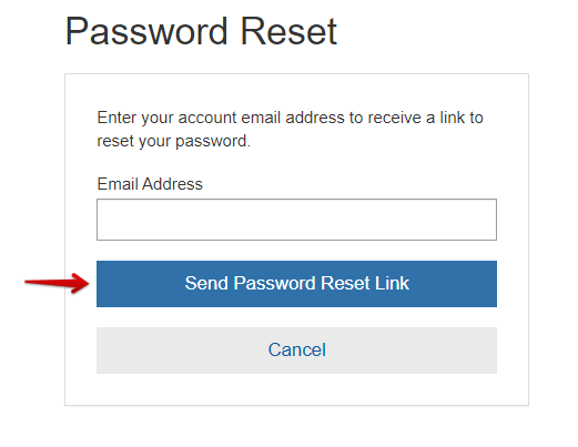 Costco Credit Card Reset Password page