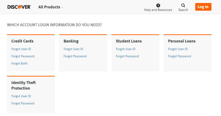 Discover Card Forgot User ID Account