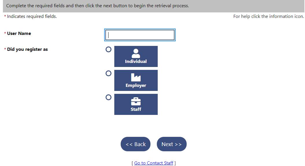 Forgot PUA password