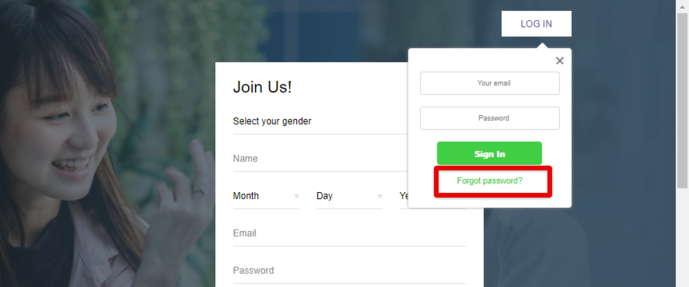 Asia Charm Forgot Password