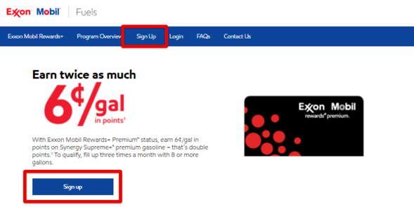 Exxon Mobil RewardPlus Exxon Mobil Reward+ Sign up