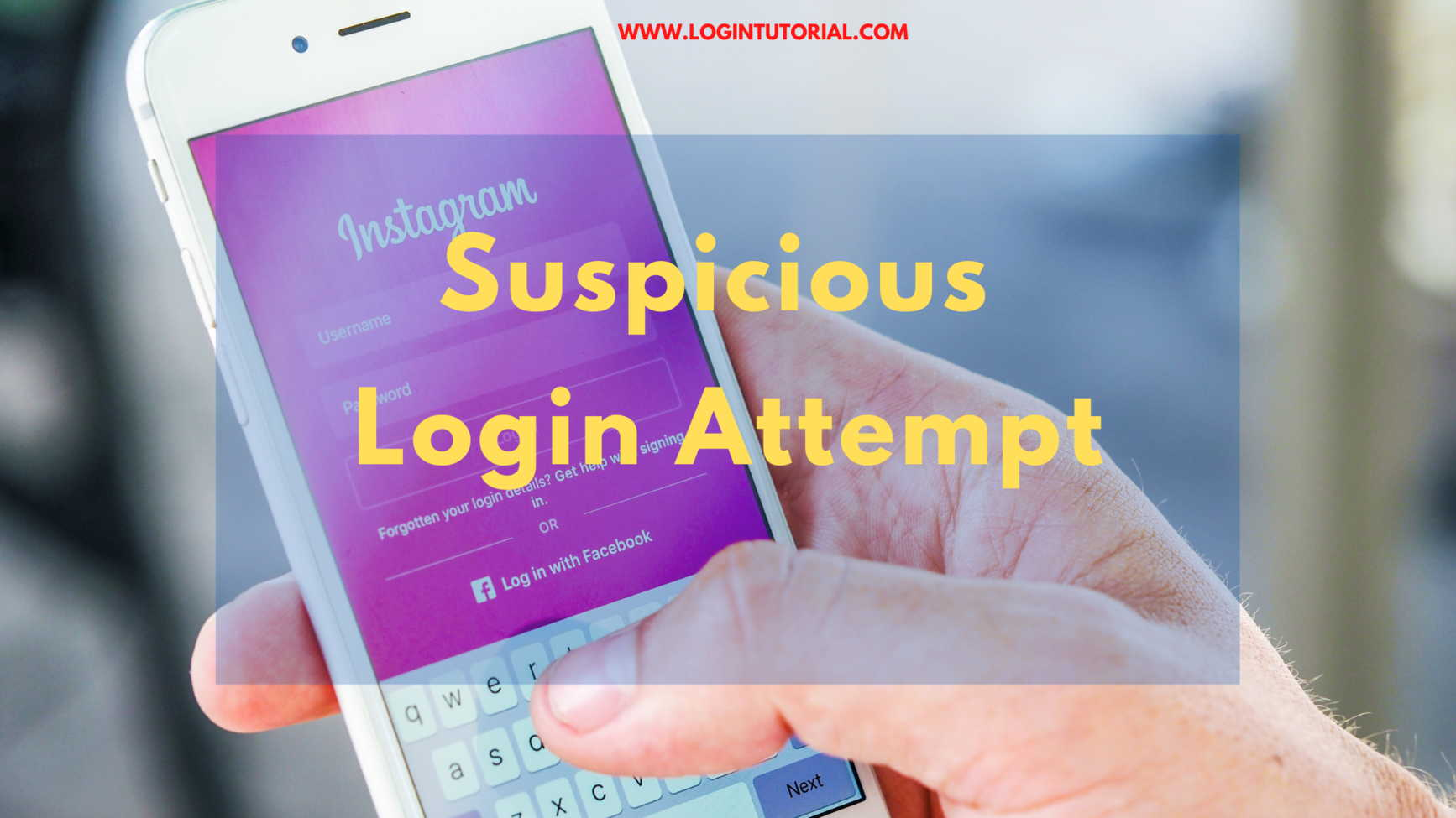 The solution to Suspicious login attempt on Instagram