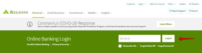 Regions Bank Online Login