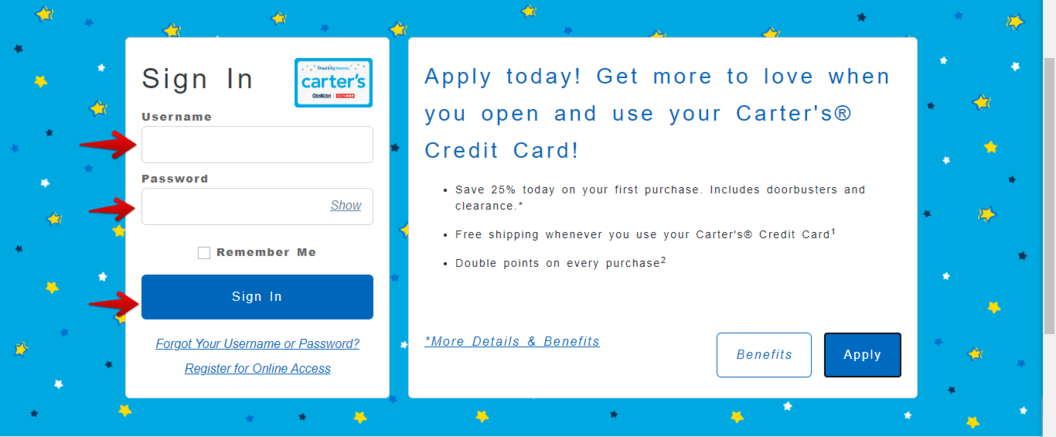 Comenity Carters Credit Card Sign In