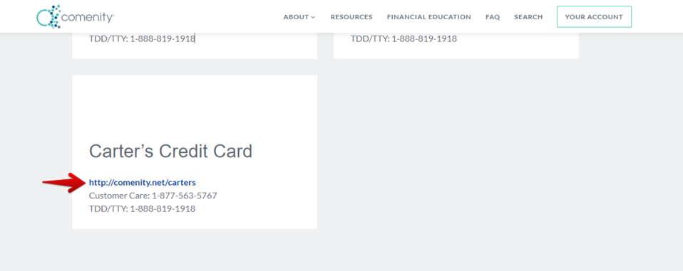 Comenity Carters Credit Card link