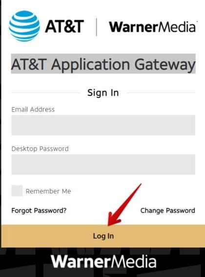 AT&T WarnerMedia Application Gateway Login