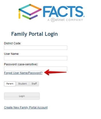 RenWeb ParentsWeb Forgot Username or Password