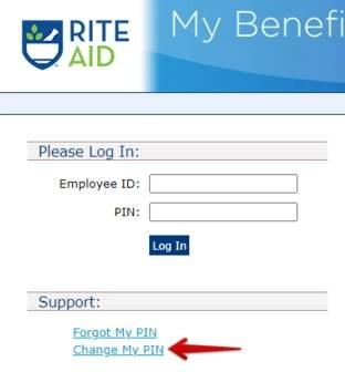 Rite Aid Change Password