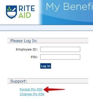 Rite Aid - Reset Password
