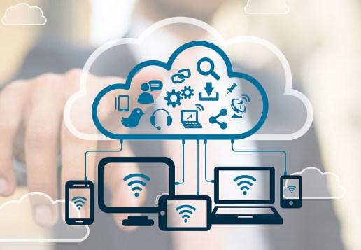 Ilustração da cloud na indústria 4.0