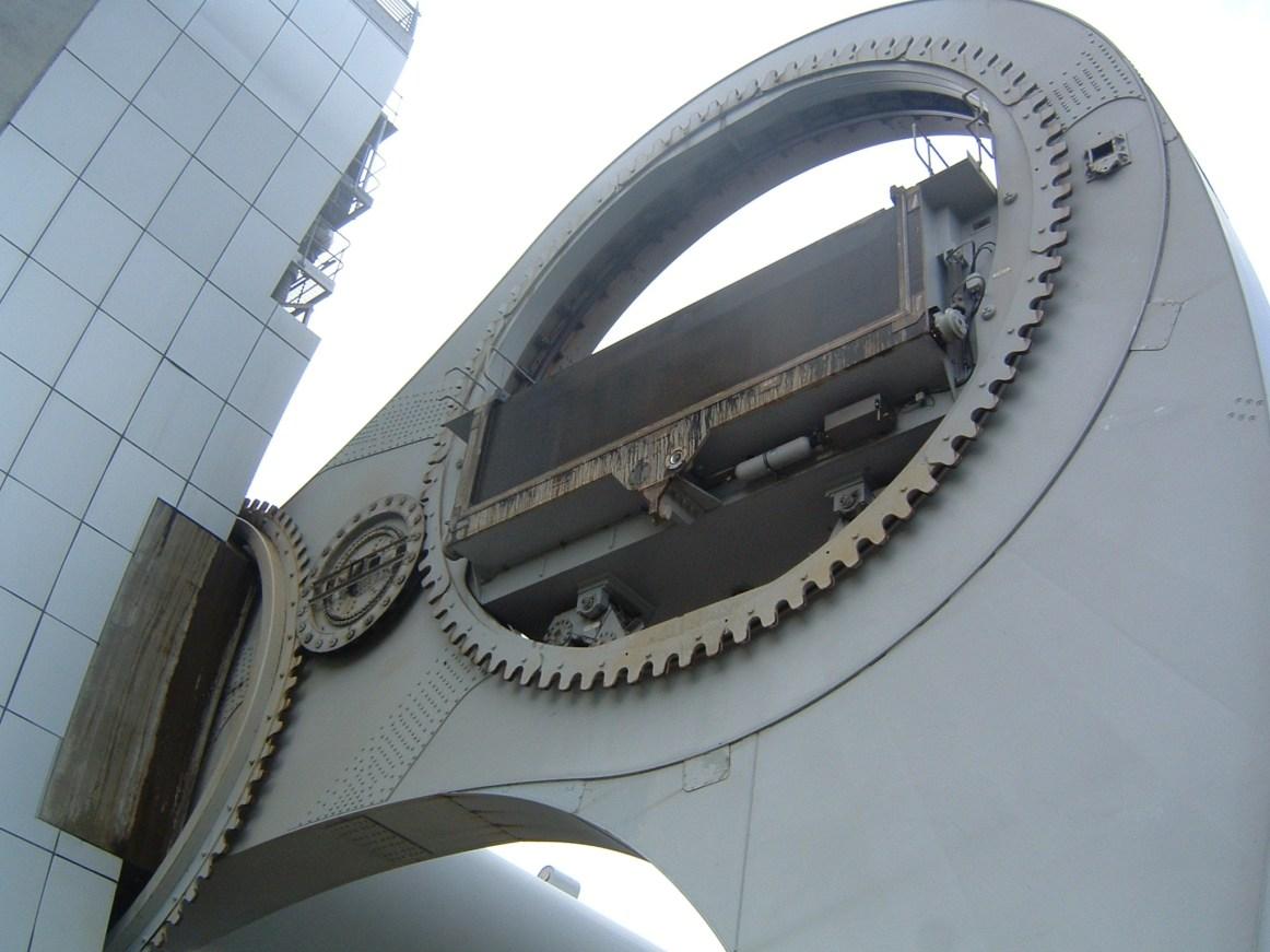 Falkirk Wheel - Roda de Falkirk - parte do mecanismo