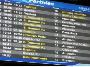 atrasos aeroportos brasil