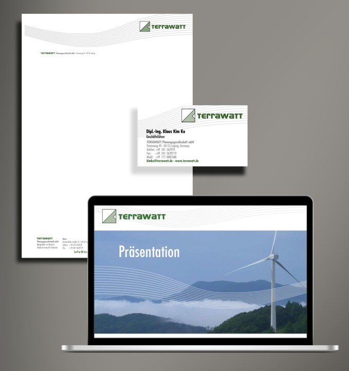 Logo und Corporate Design Terrawatt Planungsgesellschaft mbH, Reichelt Kommunikationsberatung