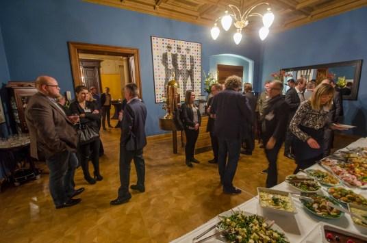 Netzwerkeln beim 73. Netzwerkabend im Leipziger Club International; Foto: Andreas Reichelt