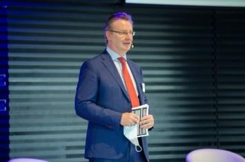 Jens Katzek, Geschäftsführer ACOD GmbH, eröffnet den ACOD Kongress und das Mitteldeutsche Logistikforum