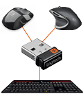 Unifying reciver with two mice and a keyboard