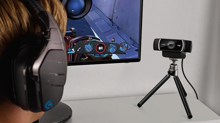 Logitech C922 Pro Stream HD Webcam with 30fps at 1080p & Autofocus