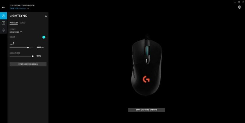 Logitech G403 color settings