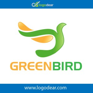 Green bird modern logo