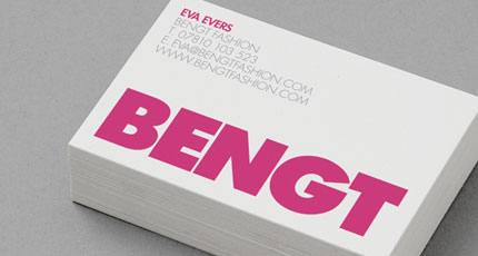 Bengt business card design