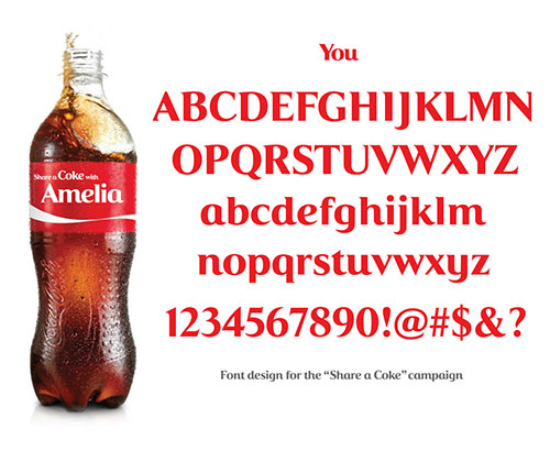 Share a Coke typeface