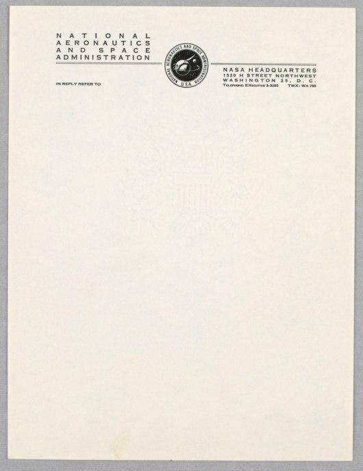 NASA letterhead 1959