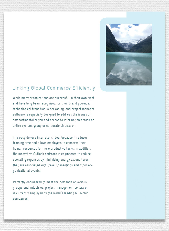 Clean Corporate Brochure Minimal Brochure Design