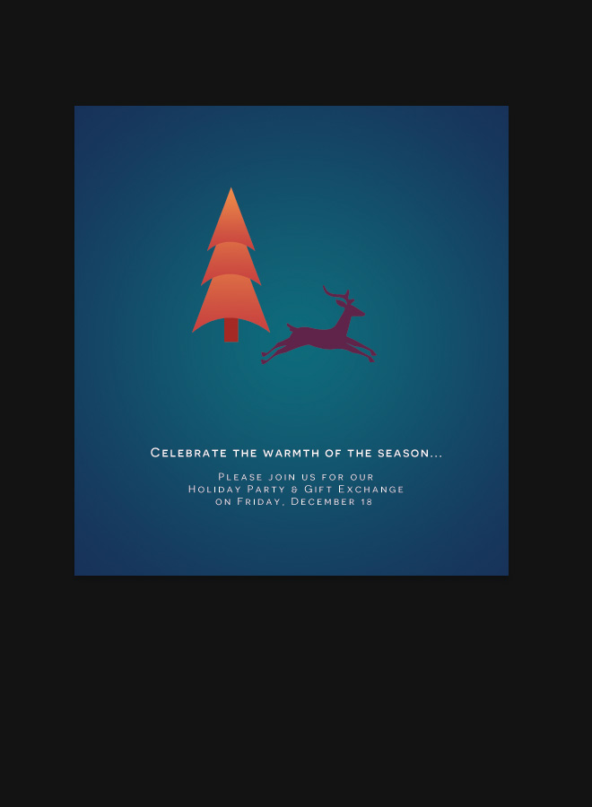 Business Christmas Invitation Card Corporate Greetings Card Holiday Wishes Christmas Reindeer