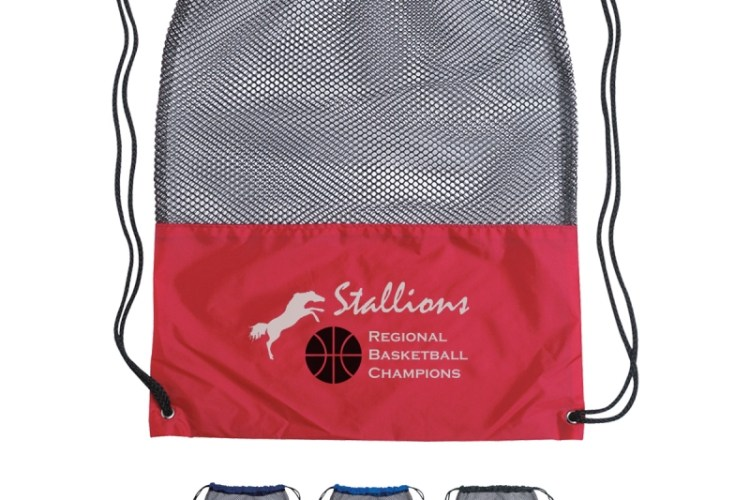 mesh gym drawstring bag