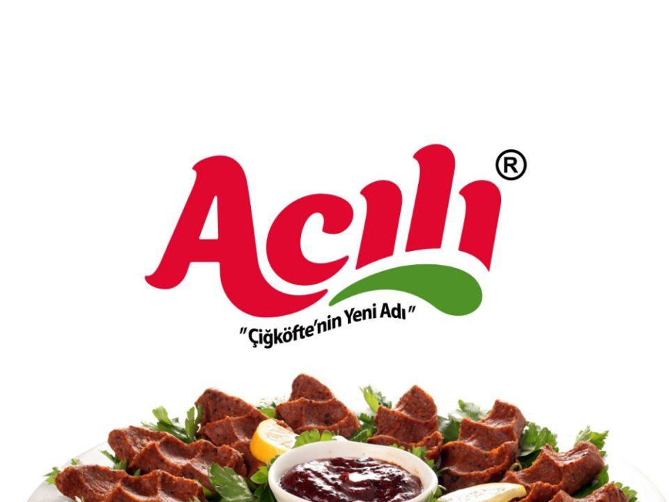 acılı çiğköfte marka logo tasarımı çiğköfteci logosu