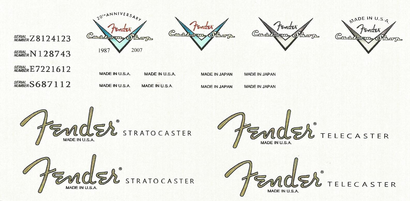 Fender Headstock Logos