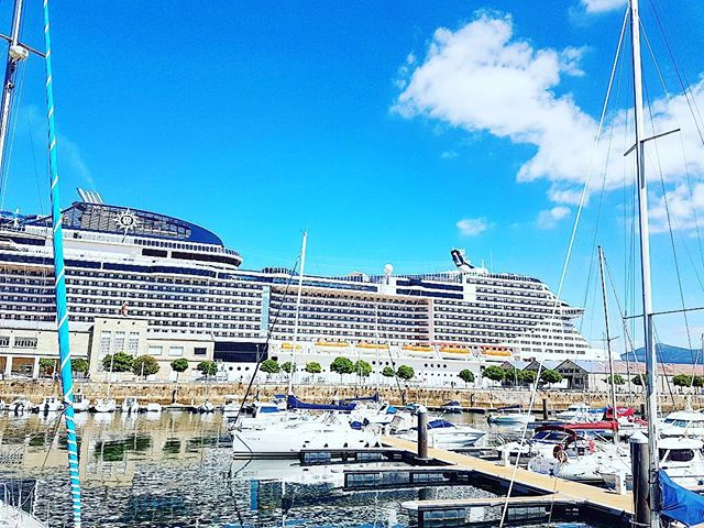 Finally docked in Vigo, Spain #cruise #crew #sailing #travel #traveling #visiting #traveler #instatravel #instago #instagood #trip #photooftheday #travelling #tourism #tourist #instapassport #instatraveling #mytravelgram #travelgram #travelingram #igtravel #instalife #travelblog #officer #sea @mscmeraviglia