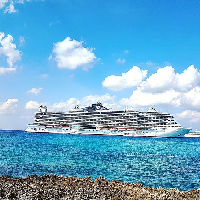 MSC Seaside today at anchorage in Gran Cayman #theplacetobe #cruise #crew #sailing #travel #traveling #traveler #instatravel #instago #instagood #trip #photooftheday #instapassport #instatraveling #mytravelgram #travelgram #travelingram #igtravel #instalife #travelblog #sea #cruising
