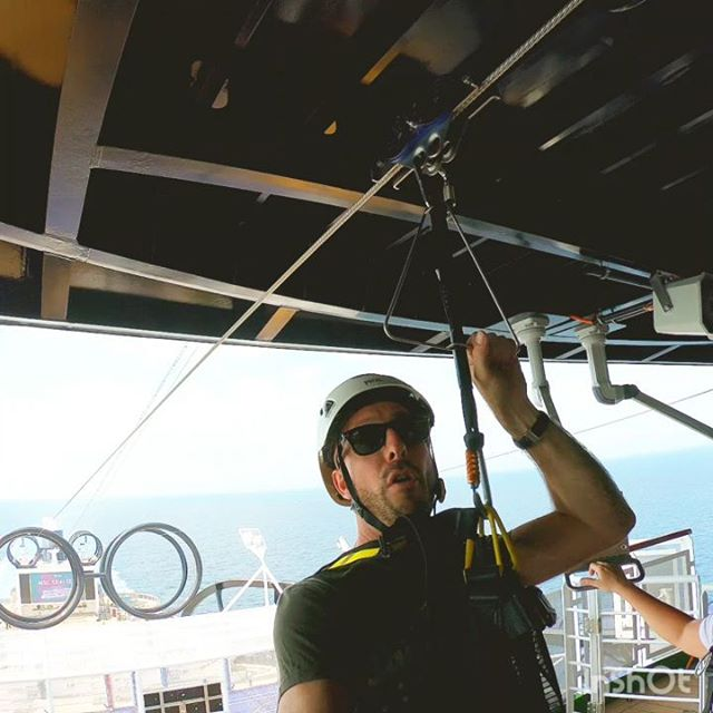 I do confirm, yes the MSC Seaview Zipline is amazing to try ! #dayofcrew #canopy #cruising #cruise #crew #sailing #travel #traveling #traveler #instatravel #instago #instagood #trip #photooftheday #instapassport #instatraveling #mytravelgram #travelgram #travelingram #igtravel #instalife #travelblog #sea #travelstoke