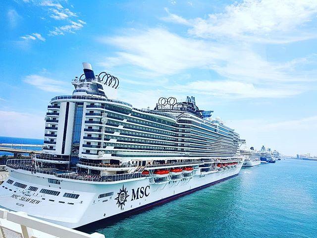 MSC Seaview maiden call in Barcelona#cruising #cruise #crew #sailing #travel #traveling #traveler #instatravel #instago #instagood #trip #photooftheday #instapassport #instatraveling #mytravelgram #travelgram #travelingram #igtravel #instalife #travelblog #sea #travelstoke