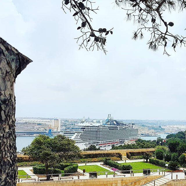 Portrait of MSC Seaview from La Valletta, Malta #msccruises #mscseaview #cruising #cruise #crew #sailing #travel #traveling #traveler #instatravel #instago #instagood #trip #photooftheday #instapassport #instatraveling #mytravelgram #travelgram #travelingram #igtravel #instalife #travelblog #sea #travelstoke