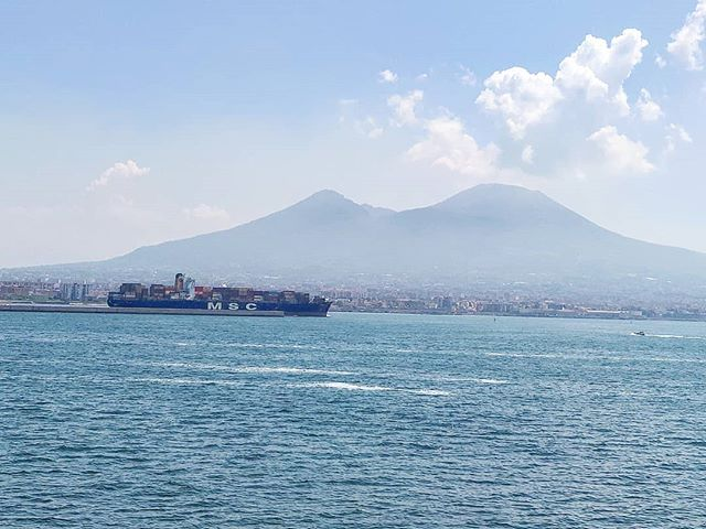 The MSC Seaview greetings the MSC Methoni while arriving today in Naples #MSC #msccruises #mscseaview #vesuvio #volcano #cruising #cruise #crew #sailing #travel #traveling #traveler #instatravel #instago #instagood #trip #photooftheday #instapassport #instatraveling #mytravelgram #travelgram #travelingram #igtravel #instalife #travelblog #sea #travelstoke