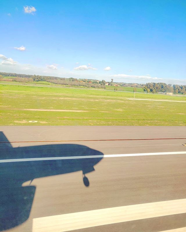 Touch down••• #rome #fiumicino #landing #airplane #travel #travelling # #traveler #instatravel #instago #wanderlust #trip #crew #photooftheday #lifeofadventure #instapassport #instatraveling #mytravelgram #travelgram #travelingram #igtravel #instalife #ig_worldphoto #traveling #travelblog #instago #travelstoke