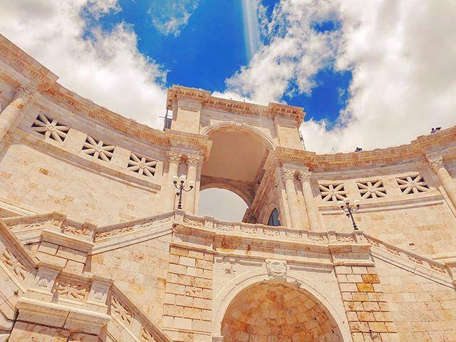The heaven gate •••#cagliari #sardinia #sailor #architecture #sky #italy #bluesky #cruising #cruise #crew #sailing #travel #traveling #traveler #instatravel #instapassport #instatraveling #travelgram #travelingram #igtravel #travelblog #sea #travelstoke