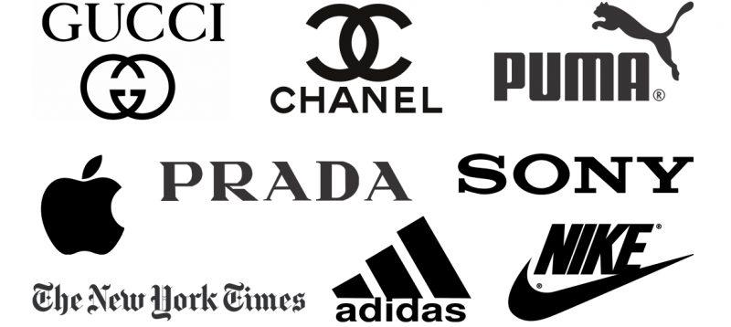 Logo berwarna hitam