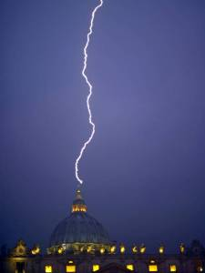 Lightning Strikes As Pope Steps Down!