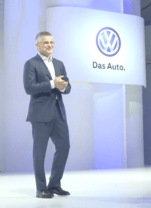 Then Volkswagen North America CEO Michael Horn apologizing effectively in the wake of the discovery of VW's emission scandal