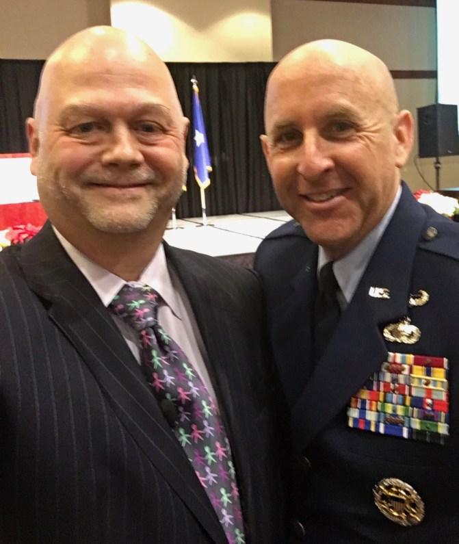 With Brigadier General Ed Thomas, Director of Public Affairs, U.S. Air Force