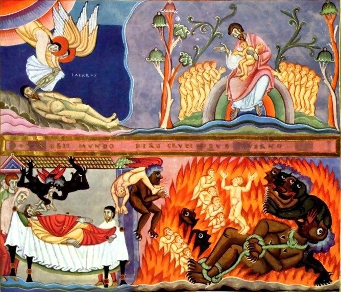 Resultado de imagen de Parábola de Lázaro y el rico