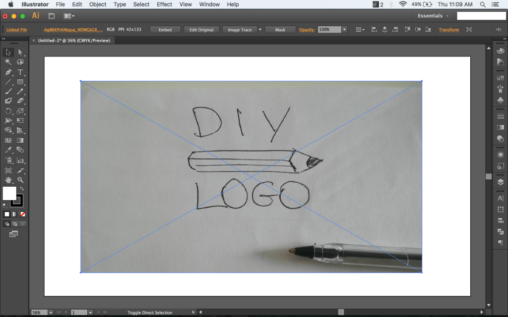 Turn a drawing into vector art illustrator