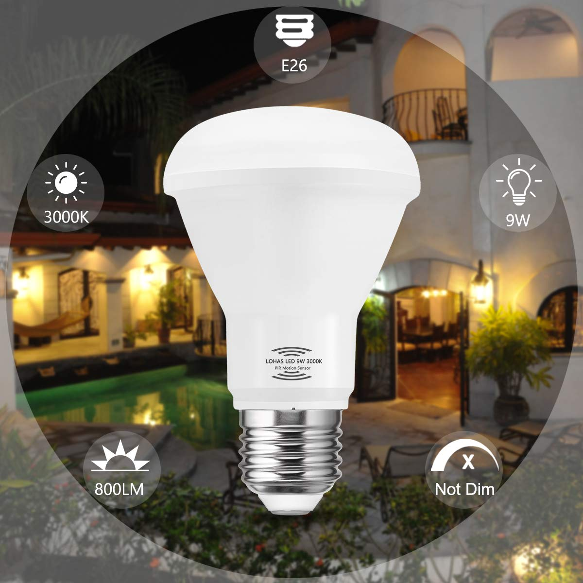 Widely Use This Sensor Light Led Light Bulb Is Suitable