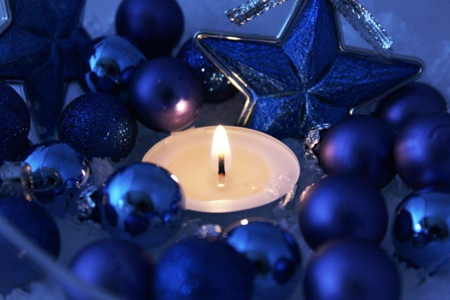Blue candle and star