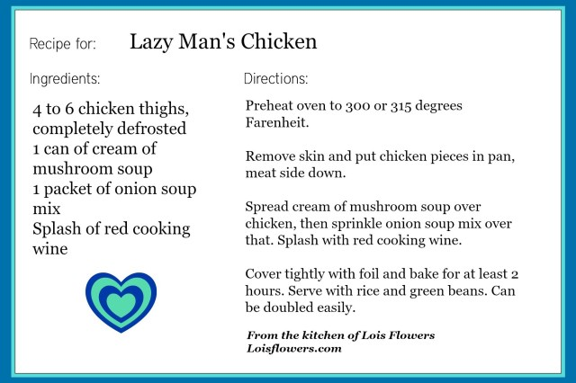 Lazy Man's Chicken recipe 3