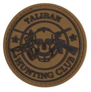 taliban chasse Club tactique Moral Patch en caoutchouc avec crochet velcro® Marque à l'arrière.