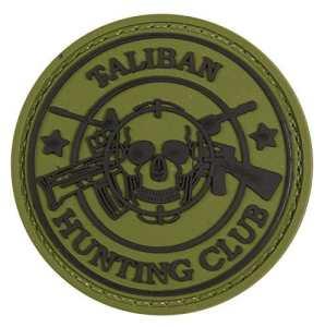 Taliban Hunting Club tactique en caoutchouc Moral Patch avec Velcro® Marque Crochet au dos.
